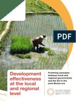 Development Effectiveness at Local Regional Level