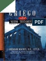 j. Gresham Machen - Griego Del n.t. Para Principiantes (Edit. Vida 2003)