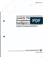 Analytic Thinking and Presentation for Intelligence Producers