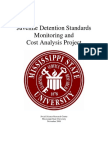 Juvenile Detention Standards Monitoring and Cost Analysis Project