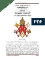 EXHORTACIÓN APOSTÓLICA MARIALIS CULTUS