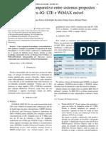 Estudo comparativo entre sistemas propostos para 4G LTE e WiMAX móvel