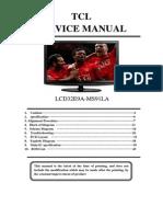 Rca l32e9a- Tcl 32m91hd Service Manual