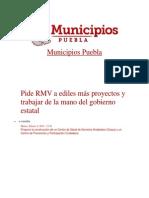 04-02-2014 Municipios Puebla - Pide RMV a ediles más proyectos y trabajar de la mano del gobierno estatal