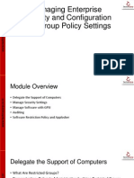 07 Managing Enterprise Security and Configuration With Group Policy