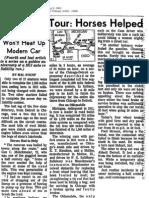 1911 Auto Tour Horses Helped