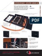 Siemon Wall Mount Interconnect Unit Swic3 Spec Sheet