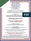 Boehner for Speaker Reception for Boehner for Speaker