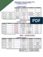 Horario Fisioterapia 1-2014