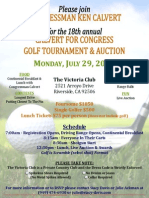 18th Annual Calvert for Congress Golf Tournament & Auction