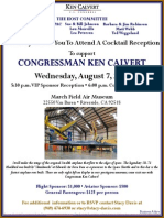 Cocktail Reception for Ken Calvert
