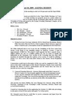 2009-08-10 Council Agenda Session Minutes