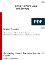 13 Recovering Network Data and Servers