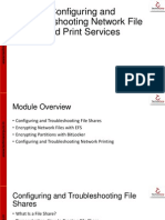 10 Configuring and Troubleshooting Network File and Print Services