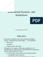 201.18 Educational Systems and Institutions