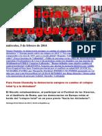 Noticias Uruguayas miércoles 5 de febrero del 2014