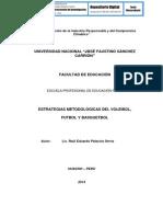 ESTRATEGIAS METODOLÓGICAS DEL VOLEIBOL, FUTBOL Y BASQUETBOL