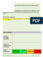 Welling School Quality Assurance of Tutortime Form 2009 Final