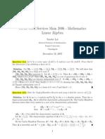 Linear Algebra 2006