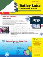 2014 Bailey Lake Elementary February Newsletter