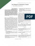 VLSI System Design for Automotive Control
