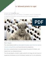 Vatican Policies 'Allowed Priests to Rape Children' - UN