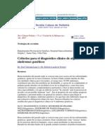 Criterios Para El Dx de Sindromes Geneticos