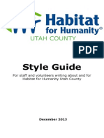 Habitat for Humanity Style Guide