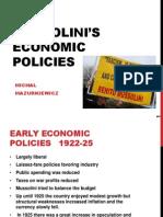 Mussolini's economic policies