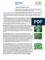 University of Florida/IFAS Watermelon Spray Guide 2014