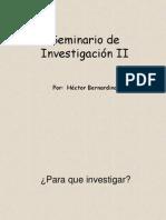 Introduccion Sem de Investigación II 2014