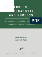 Access, affordability, and success