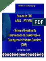 GHS Prevenir Roque Puiatti