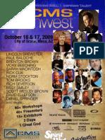 CMS Southwest - Program 2009