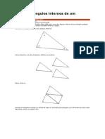 Soma dos ângulos internos de um triângulo