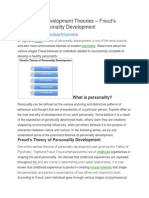Personality Development Theories