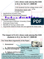 College Dress Code in Silliman University SY 2008-09 (BC25)