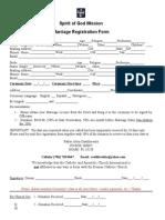 Old Catholic Marriage Registration