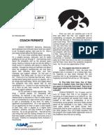 Coach Ferentz - 02 05 14