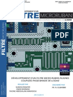Developpement d'un Filtre Microruban a Lignes Couplees Passe-bande de 6,5Ghz