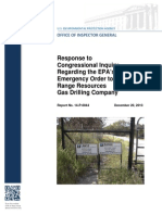 EPA OIG Report December 2013 re Range Resources and Parker County, Tx