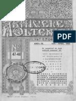 Arhivele Olteniei , 09, Nr. 47-48, Ianuarie - Aprilie 1930 Despre Analele Dobrogei