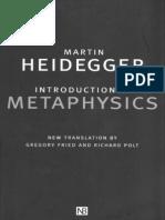 Heidegger Introduction to Metaphysics