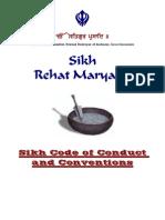 sikh rehat maryada code of conduct - english