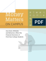 Money Matters on Campus wFinal Report