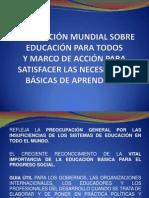 DECLARACIÓN MUNDIAL SOBRE EDUCACIÓN PARA TODOS