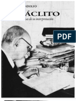 Rodolfo Mondolfo Heraclito Textos y Problemas de Su Interpretacion