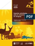 Especies Prioritarias Para La Conservacion en Uruguay