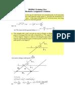 Assignment 2 - Mechanics 2 Solution