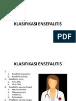 KLASIFIKASI ENSEFALITIS